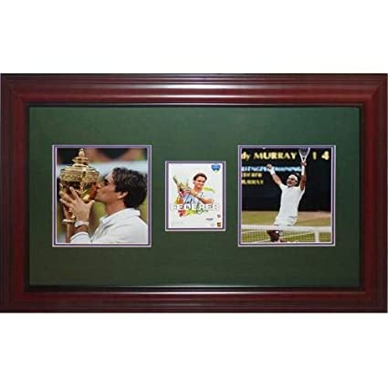 0e74f6682e5 Roger Federer Autographed Signed Auto Tennis Wimbledon Champion Deluxe  Framed Piece JSA - Certified Authentic at Amazon s Sports Collectibles Store