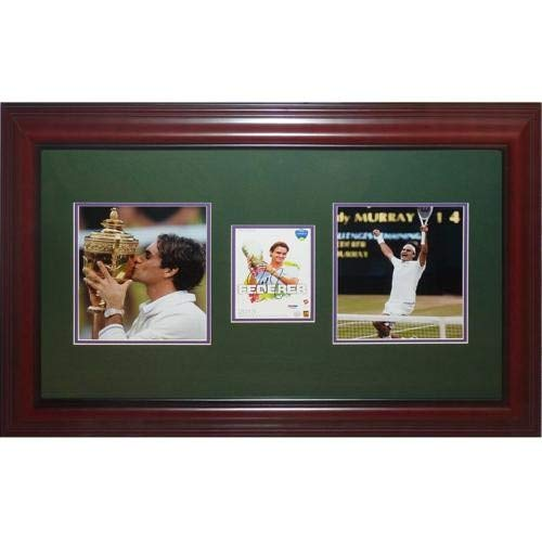 Roger Federer Autographed Signed Auto Tennis Wimbledon Champion Deluxe Framed Piece JSA - Certified Authentic