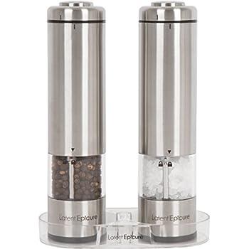 Amazoncom Kato Electric Salt and Pepper Grinder Set Battery
