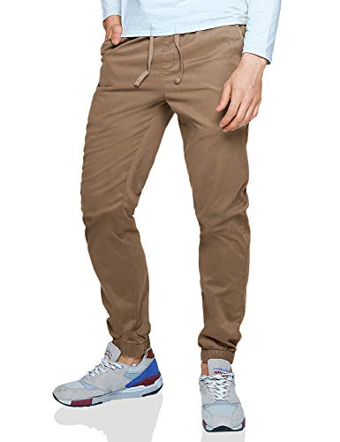 Match Men's Loose Fit Chino Washed Jogger Pant (32, 6535 Khaki)