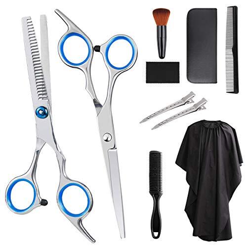 Feltom Hair Cutting Scissors Set, 10 PCS Professional Hairdressing Scissors Kit, Barber Scissors Kit, Thinning Shears…