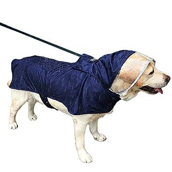Portable Wasserdichter Regenmantel Große Mit Duolemi RegenjackeHunderegenmantelJustierbarer Sicherem Haustier Hunde ALq345jR