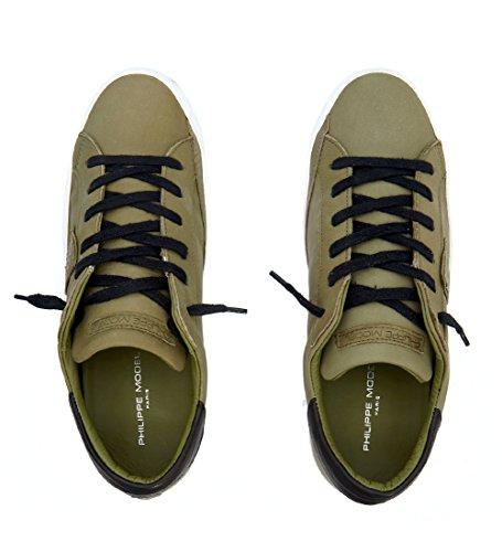Philippe Model Sneakers Paris in Leder Salbeigrün Grün