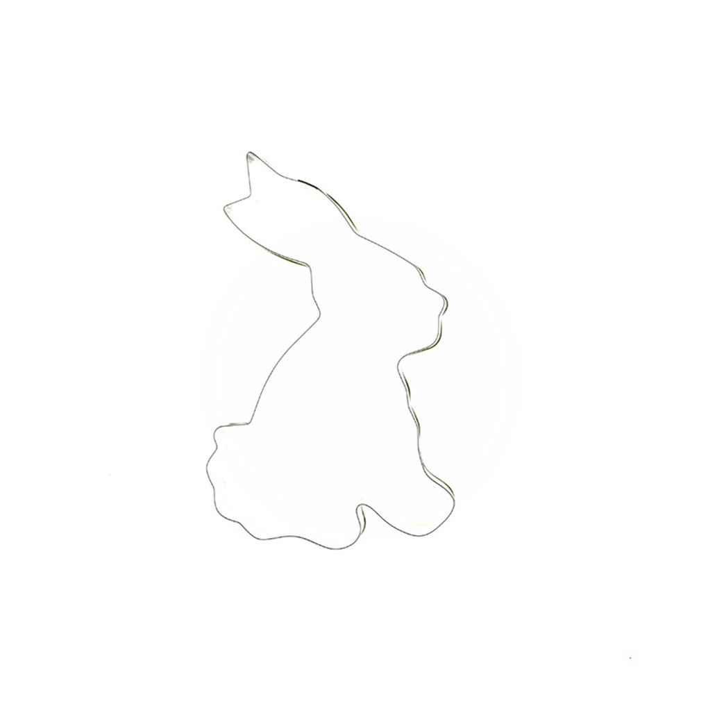 Herramienta para hornear forma de conejo Torta de la galleta del molde del molde de acero cortador de la torta de la magdalena Regard Natral