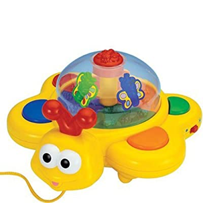 Megcos Pull-Along Musical Butterfly -Affordable Gift for your Little One! Item #LMID-1231 : Push And Pull Baby Toys : Baby