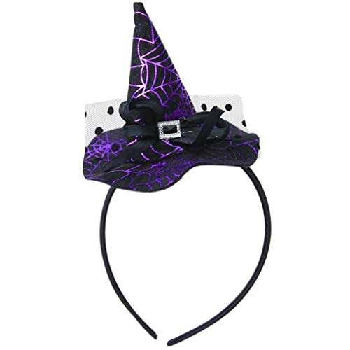 (Kids Halloween Headband,Anboo Halloween Unique Design Spider Pumpkin Bats Ghosts Cap Hoop Short Plush Hairband Headwear for Cosplay Party)