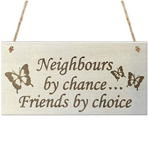 OmkuwlQ Wooden Hanging Gift Plaque Pendant Rectangle Shape Friendship Door Window Decor Pendant Tags Love Wood Chip