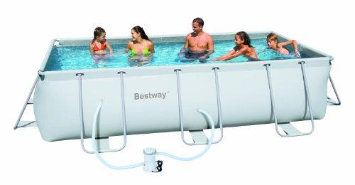 Beliebt Bestway 56251GS Frame Pool Set, rechteckig, 404 x 201 x 100 cm VB72
