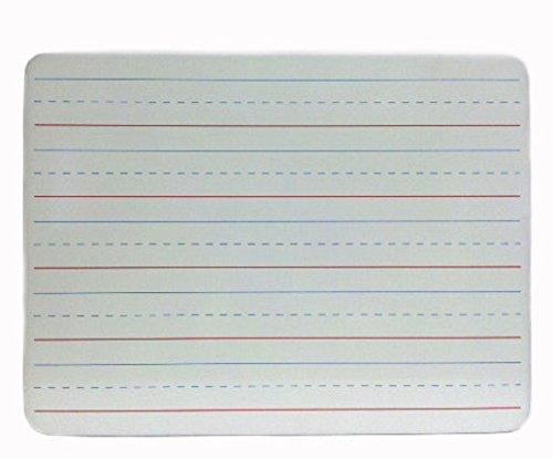 Charles Leonard, Inc. One Sided Dry Erase Board, 9 x 12 Inches Lapboard, Masonite, Lined White, 12 Each (35115)