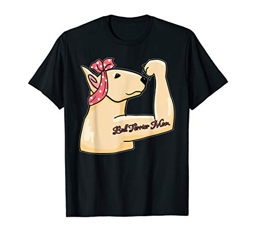 Cute Bull Terrier Dog Mom T-shirt Cute Dog Gifts for Women