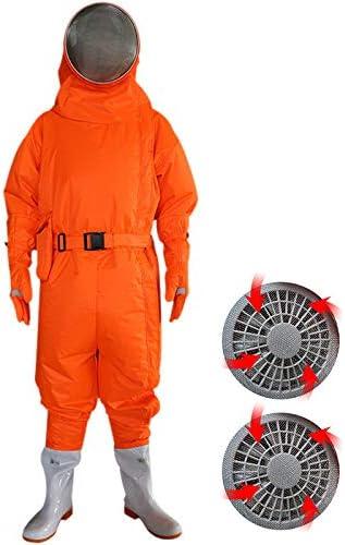 養蜂スーツ/養蜂防護服、ベール付き換気サロペット、作業服 - 養蜂場、養蜂場、農場および養蜂家用,Orange-S