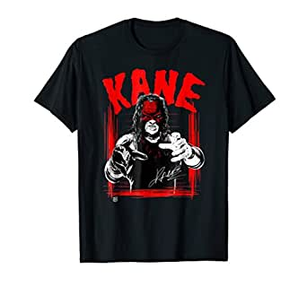 WWE RAISE SOME KANE WELCOME TO HELL T-SHIRT BLACK MENS WRESTLING GRAPHIC TEE