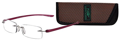Select-A-Vision Flex 2 Flexible Rectangular Frame Reading Glasses, Burgundy, 1.50 ()