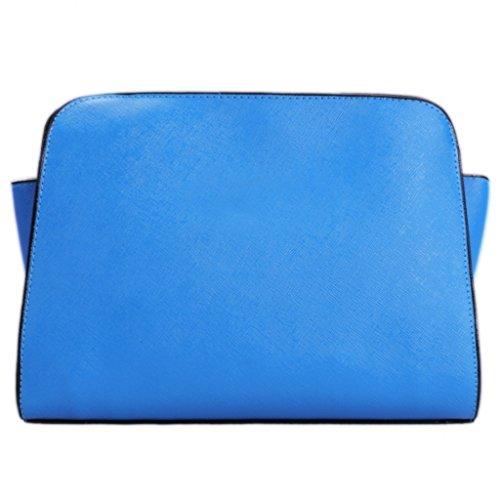 Bandolera - All4you Moda PU cuero damas bandolera sólida pequeña Cruz Bag(Red) Azul