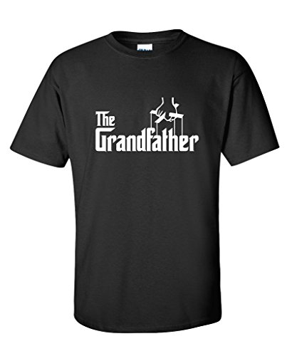 The Grandfather Fathers Day Gift Grandpa Movie Graphic Novelty Funny T Shirt L Black