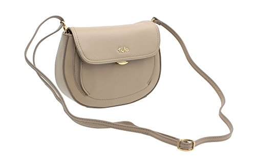 Leather Black Tula Cross Small Shoulder BELLA 8152 Bag Beige Collection Body ZqqPxtSzw
