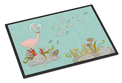 "Caroline's Treasures Flamingo Underwater Doormat 24"" x 36"" Multicolor from Caroline's Treasures"