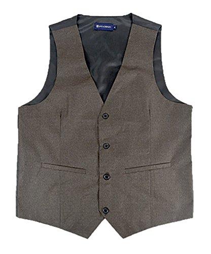 Selini Men's Classic Fit Button Front Dress Vest, Large, - Dressy Men