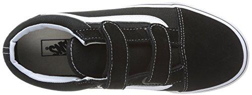 Vans OLD SKOOL V - zapatilla deportiva de lona infantil negro - Schwarz (Black/True Whit 6BT)