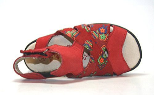 Fritz&Kids , Sandales pour fille Rouge Rot Mit Muster 24