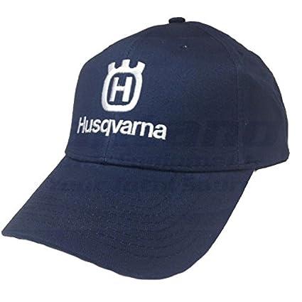 Amazon.com   Husqvarna Blue Baseball Hat Cap with White Husqvarna Logo    Garden   Outdoor 7627f953dcc