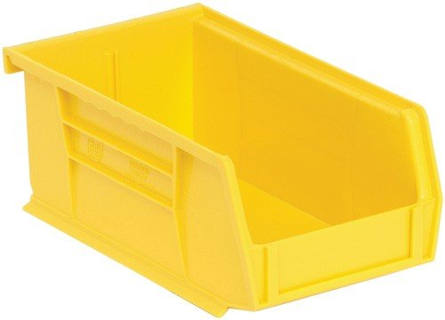 Quantum Storage Systems Ultra Stack and Hang Bin Unit (13-5/8'' x 8-1/4'' x 8''), Yellow
