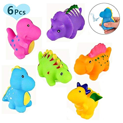 - Set of 6 Dinosaur Baby Bath Toys Fun Squirt Toys for Bathtub Bathroom Floating Toys for Kids Infant Toddlers