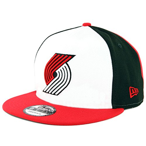 - New Era 950 Portland Trail Blazers Team Retro Wheel Snapback Hat (BK/WH) Cap