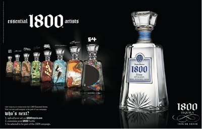 PRINT AD For 2008 Cuervo 1800 Tequila Essential Artist's Bottles