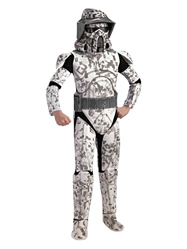 Star Wars The Clone Wars, Child's Deluxe Costume And Mask, Arf Trooper Costume - Clone Trooper Armor Costume