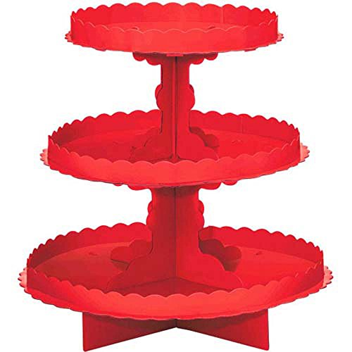 Red 3-Tiered Cupcake Stand (1ct)