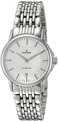 Edox Women's 57001 3M AIN Les Bemonts Analog Display Swiss Quartz Silver Watch