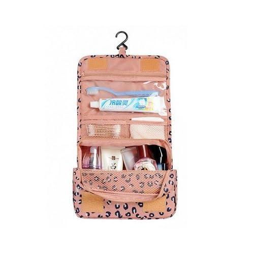 LULANSac cosmétique voyage transportant de grandes femmes imperméable poche-Voyage Voyage forfait lavage fournitures et les hommes ,24*19.5cm, rose leopard print