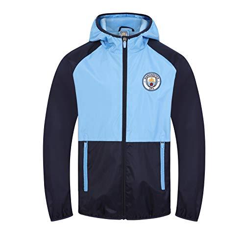 Manchester City FC – Chaqueta cortavientos oficial – Para niño – Impermeable – Estilo retro