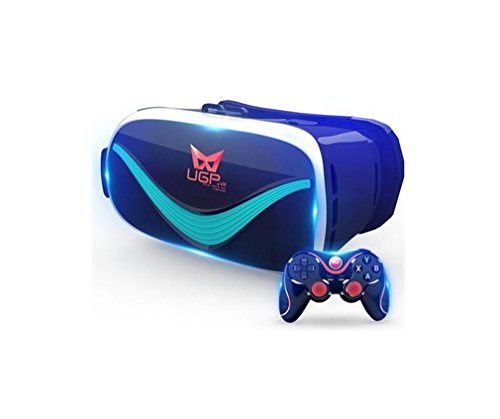 [해외]Nola Sang 3D VR 안경 가상 현실 헤드셋, 안드로이드 블루투스 원격 제어, 360도 파노라마 동영상 및 3D 영화 감상 Immer/Nola Sang 3D VR Glasses Virtual Reality Headset with Iphone Android Bluetooth Remote Control, Watching 360 Degree Pan...