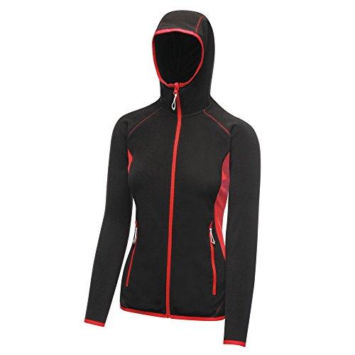 Regatta Women's Women's Seoul Fleece Long Sleeve Jacket Black/Classic Red