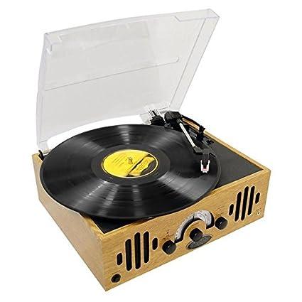 Amazon Com Upgraded Version Vintage Record Player Classic Vinyl