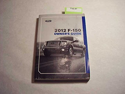 2012 Ford F-150 Owners Manual Guide Book