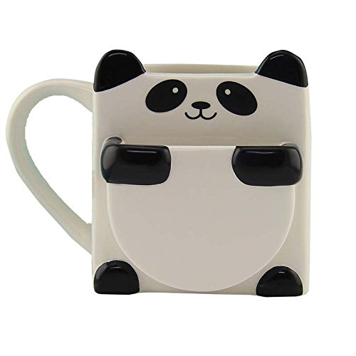 Panda Hug Ceramic Coffee Mug - Includes Cookie or Biscuit Pocket