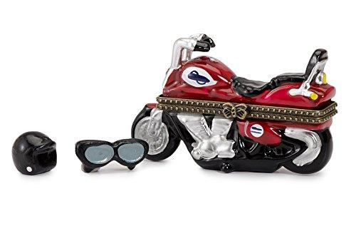 Motorcycle Chopper Bike Miniature Porcelain Hinged Trinket Box](Miniatures Motor)
