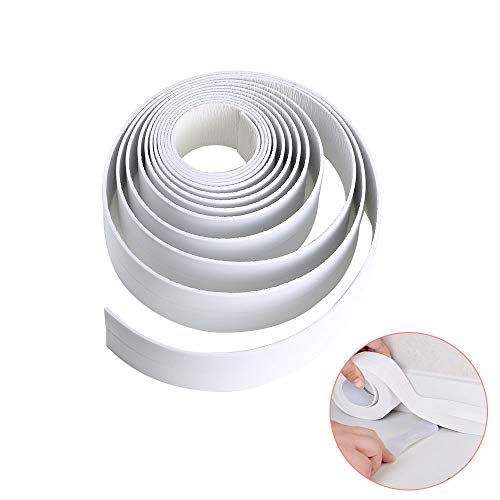 Decorative Bath Sinks - Caulk Strip KINDPMA Self Adhesive Bathtub and Wall Sealing Tape Waterproof Kitchen Caulk Tape for Shower Sink Tile Crack Repair Anti-Mildew Tub Sealer Decorative Trim 1-1/2
