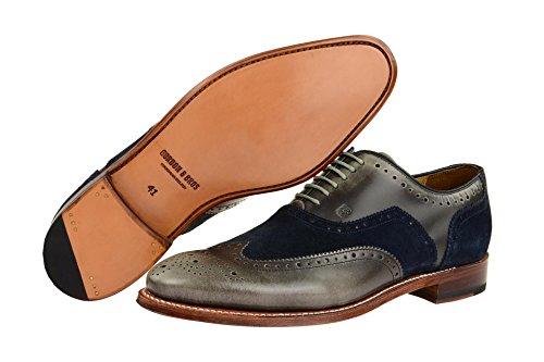 Gordon & Bros3859-d Grey-navy - zapatos con cordones Hombre , color gris, talla 46 EU