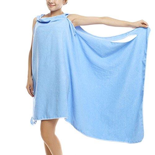 Shesgirl Albornoz de Ducha Ajustable para Mujer con diseño de SPA, de Felpa, Suave algodón y Rizo, para baño, para...