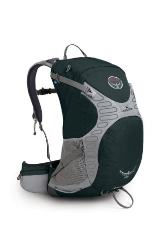 Osprey Stratos 34 Backpack, Shale Black, Medium, Outdoor Stuffs