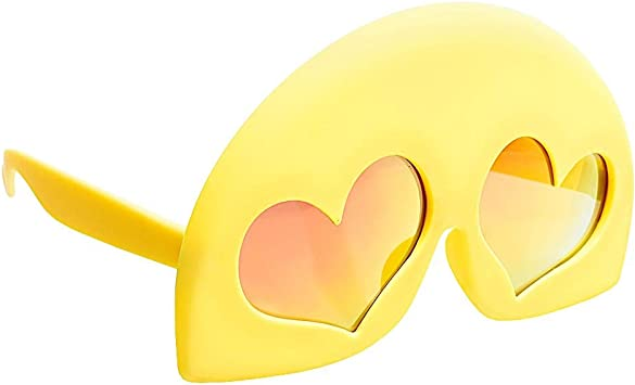 Emoji Disfraz Fiesta – Sun-Staches Heart Eyes Kids Lil Cosplay ...