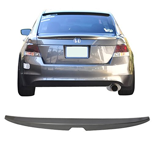 Pre-painted Trunk Spoiler Fits 2008-2012 Honda Accord | OE Style ABS Painted Polished Metal Metallic #NH737M Trunk Boot Lip Wing Deck Lid Other Color Available By IKON MOTORSPORTS | 2009 -