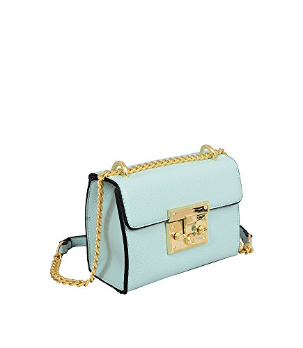 Push Leather World Emily Crossbody Cross Vegan Body Bag Bag Clutch Hb17247 Chain Mint Closure Mellow Lock Strap dvISwxq11