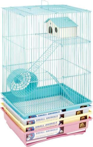 Prevue Pet Products SPV2030C 4-Pack Hamster 3-Story Pastel Cage, Colors - Wire Cage Tri Level