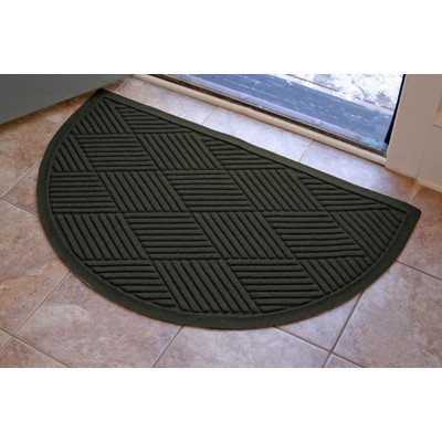 AquaShield Diamonds Half-Oval Mat, 24 by 39-Inch, Charcoal by AquaShield