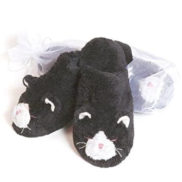 Amazon.com: climatizada Herbal Lavanda Cat Zapatillas, WW-SL ...